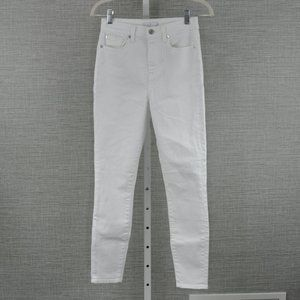 7 For All Mankind White High RiseSkinny Jeans - 26